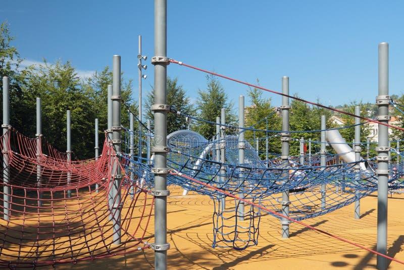 Spanje, Bilbao Sportenvermaak complex op kabels royalty-vrije stock foto's