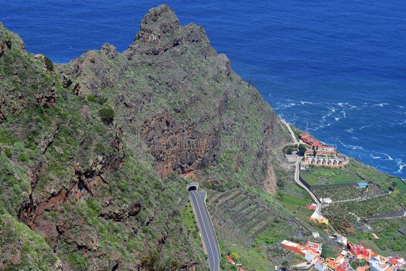 Spanje, Canarische Eilanden, La Gomera stock afbeeldingen