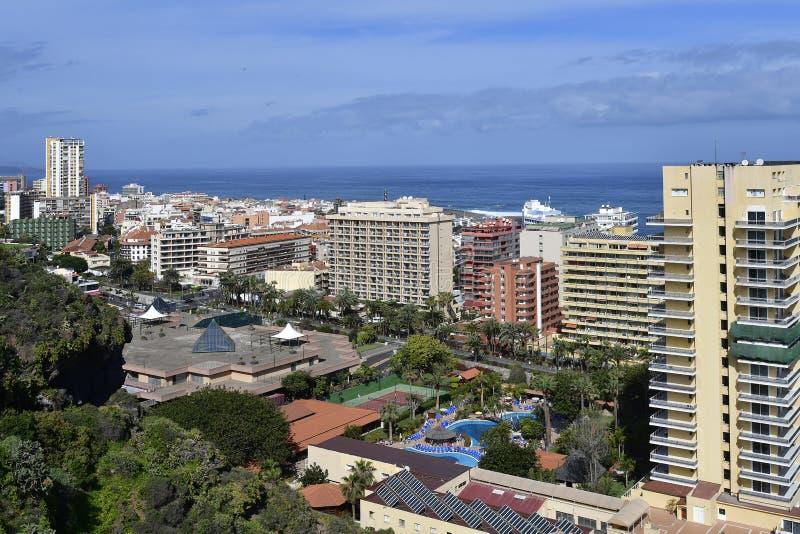Spanje, Canarische Eilanden, Tenerife, Puerto de la Cruz stock afbeelding