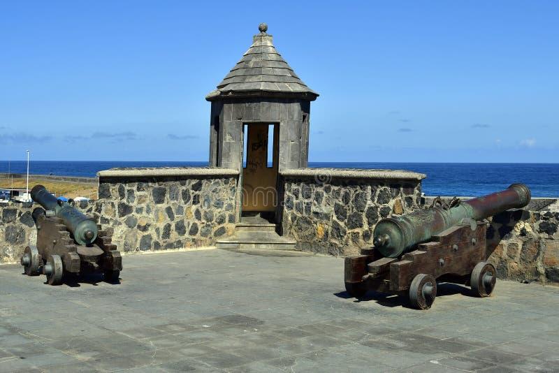 Spanje, Canarische Eilanden, Tenerife, Puerto de la Cruz royalty-vrije stock foto