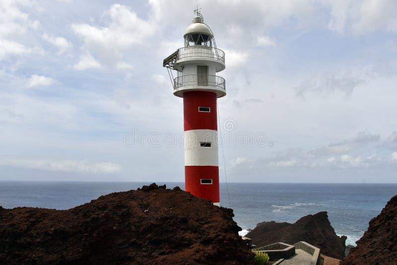 Spanje, Canarische Eilanden, Tenerife, Vuurtoren stock afbeelding