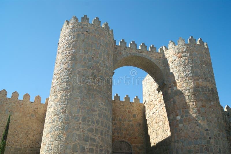 Spanje, de stad van Avila Stadspoorten stock foto's