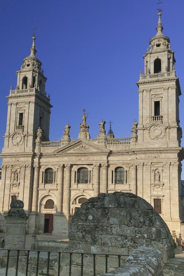 Spanje, Galicië, Lugo, Kathedraal stock foto