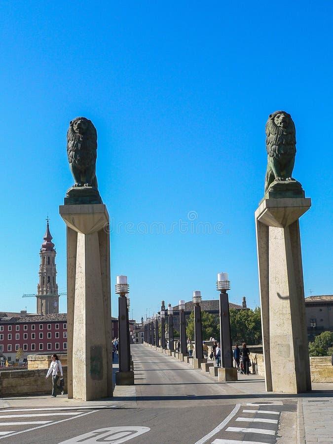 spanje Zaragoza royalty-vrije stock afbeelding