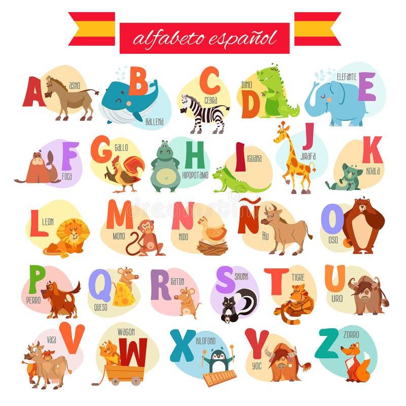 Spanjorabc för förskole- utbildning arkivbild