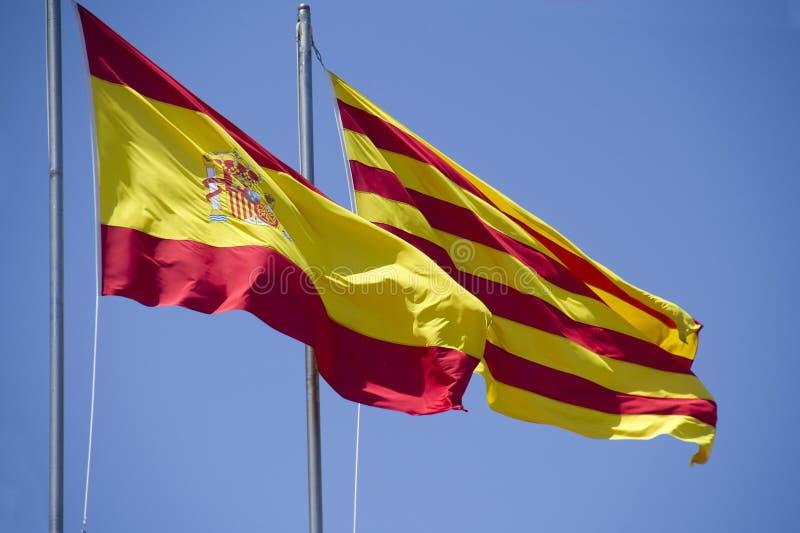 Spanjoren och Catalan sjunker arkivfoto