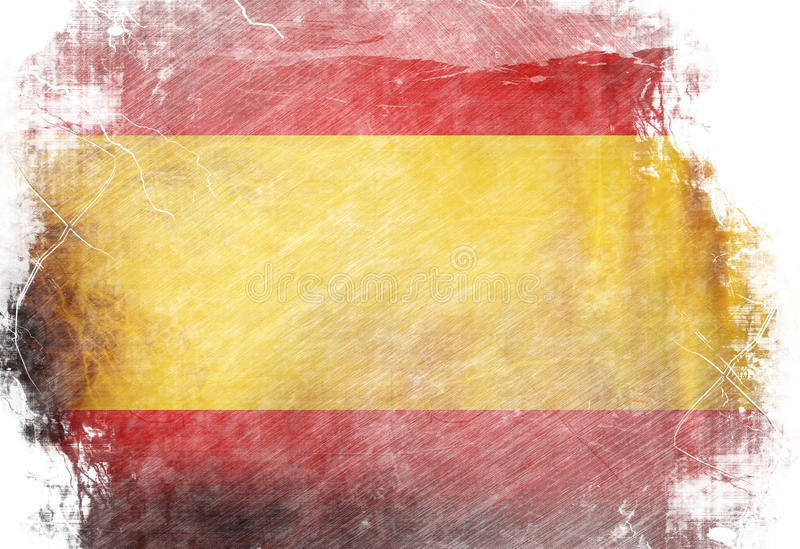 Spanjorflagga royaltyfri illustrationer