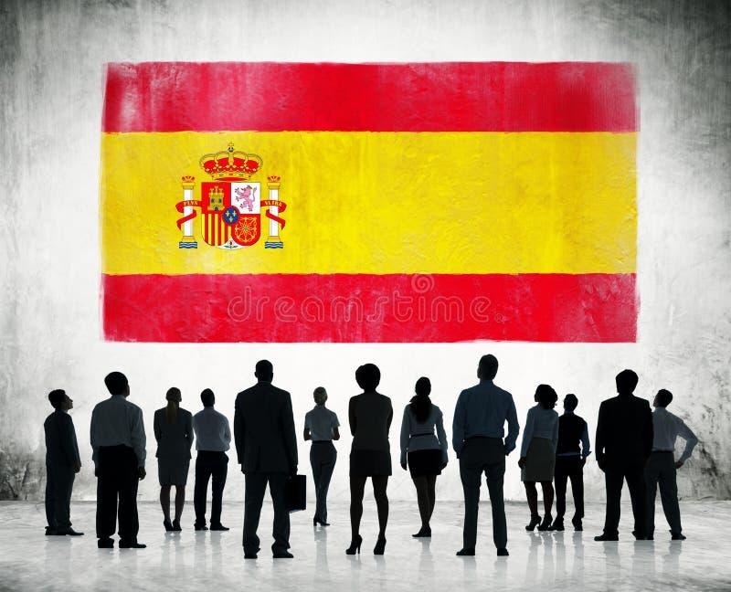 Spanjorflagga royaltyfria bilder
