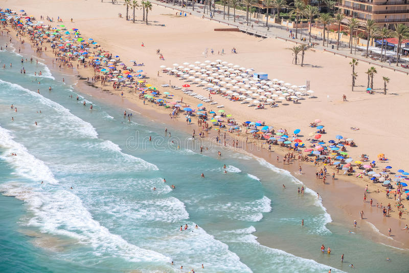 Spanjorkust, Alicante stränder royaltyfria foton