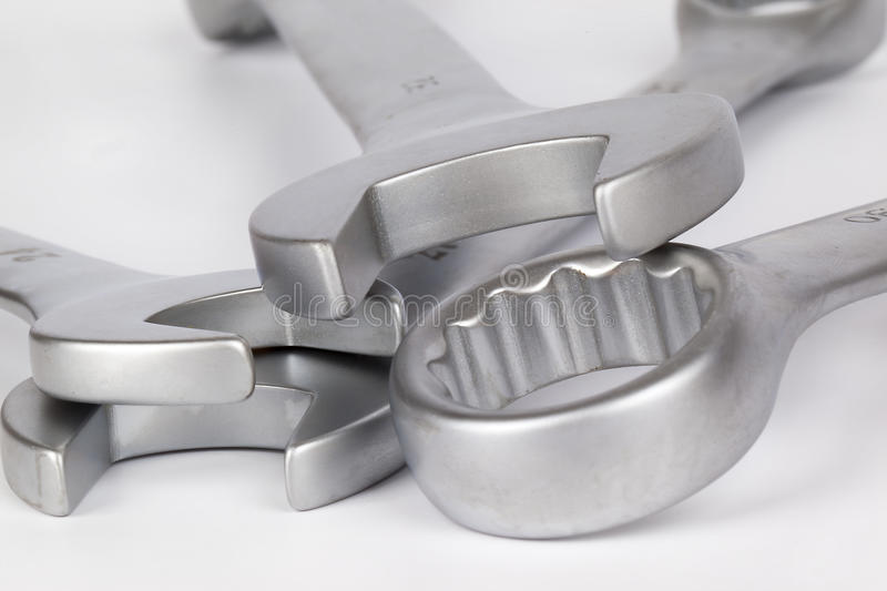 Spanner. On a white background royalty free stock photography