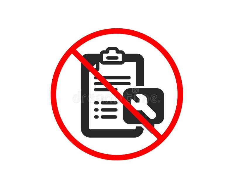 Spanner narzędziowa ikona Remontowej usługi listy kontrolnej znak wektor ilustracja wektor