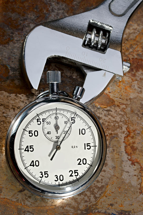 Download Spanner and stopwatch stock image. Image of counting - 23566441