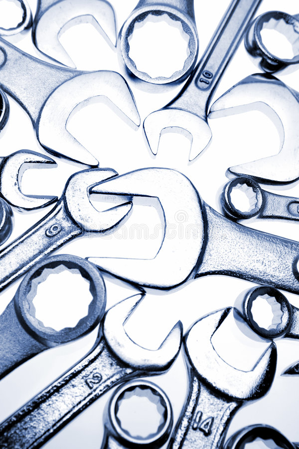Spanners royalty free stock photo