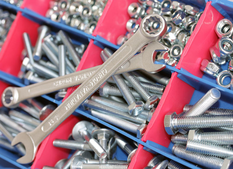 Download Spanners, bolts and nuts stock image. Image of focus - 17914857