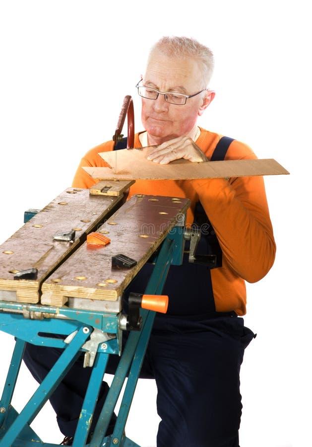 Spannvorrichtung Sawing lizenzfreies stockbild
