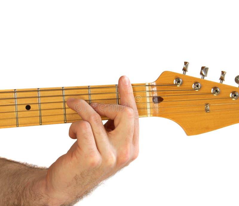 Spannweite der Gitarren-F stockbild