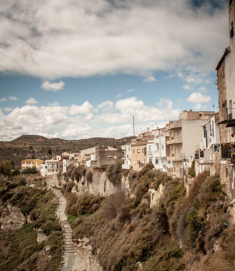 Spansk by fotografering för bildbyråer