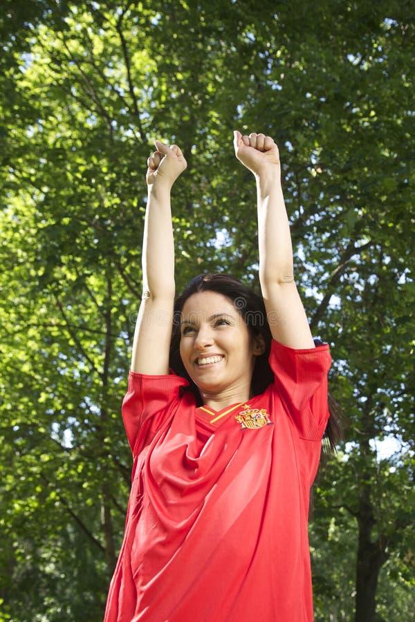 Spansk fotbollventilator arkivfoto