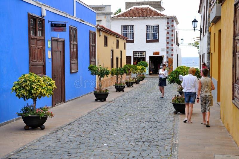 Spansk gammal stad på den Tenerife ön arkivbild