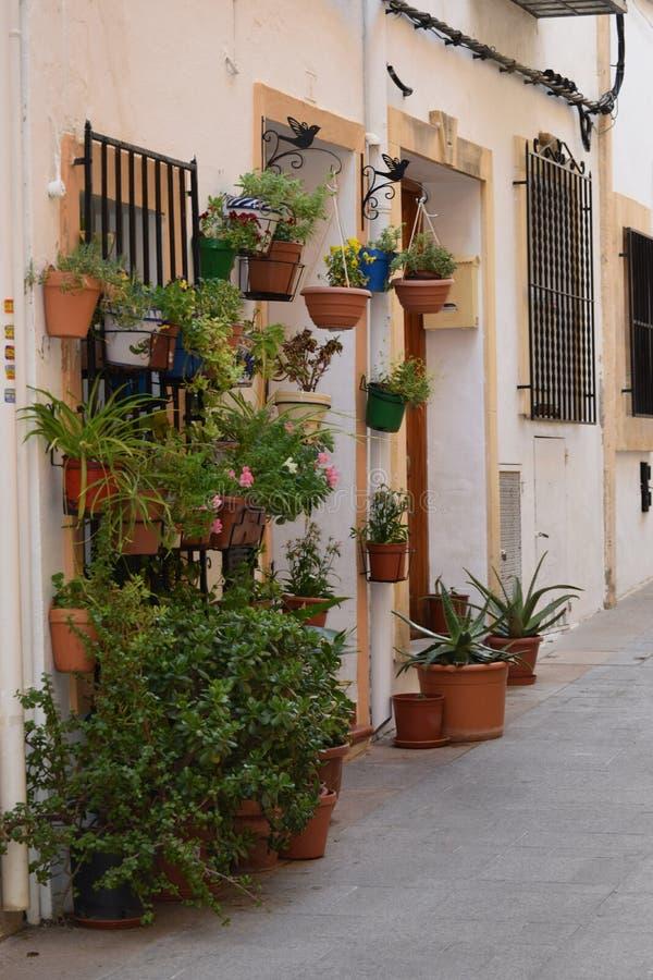 Spansk gataplats arkivbild