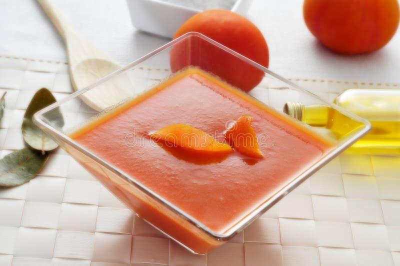 Spansk gazpacho arkivbilder