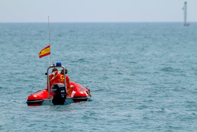Spansk kustbevakning royaltyfri foto