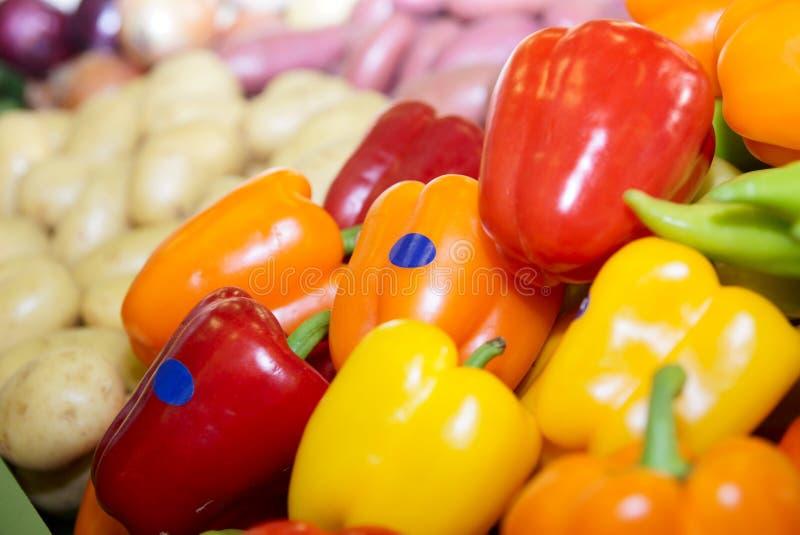 spansk pepparsupermarket arkivfoton