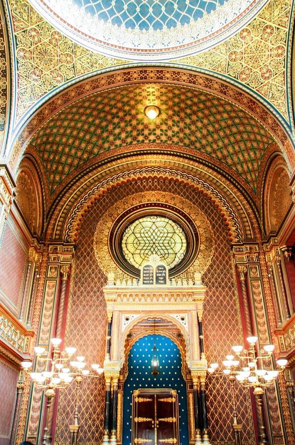 Spansk synagoga royaltyfria bilder