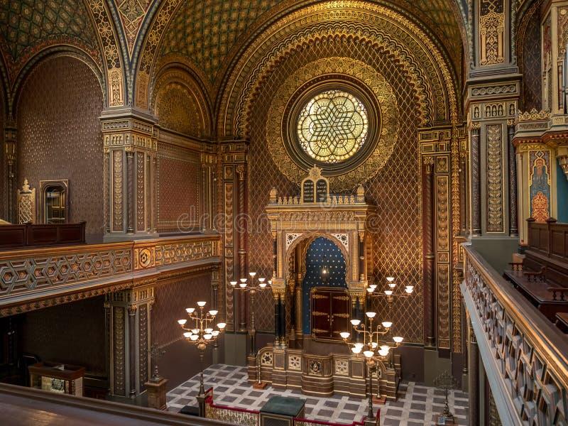 Spansk synagoga i Prague arkivbilder
