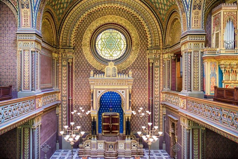Spansk synagoga i Prague, Tjeckien arkivbild