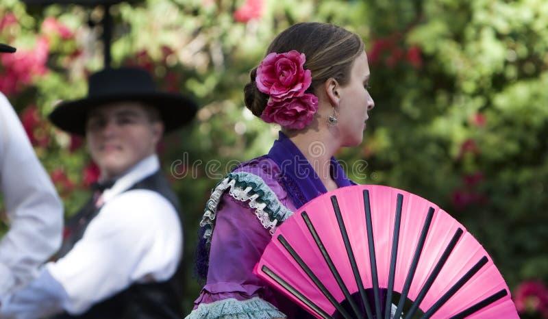 Spanska dansare Rancho Camulos royaltyfria foton