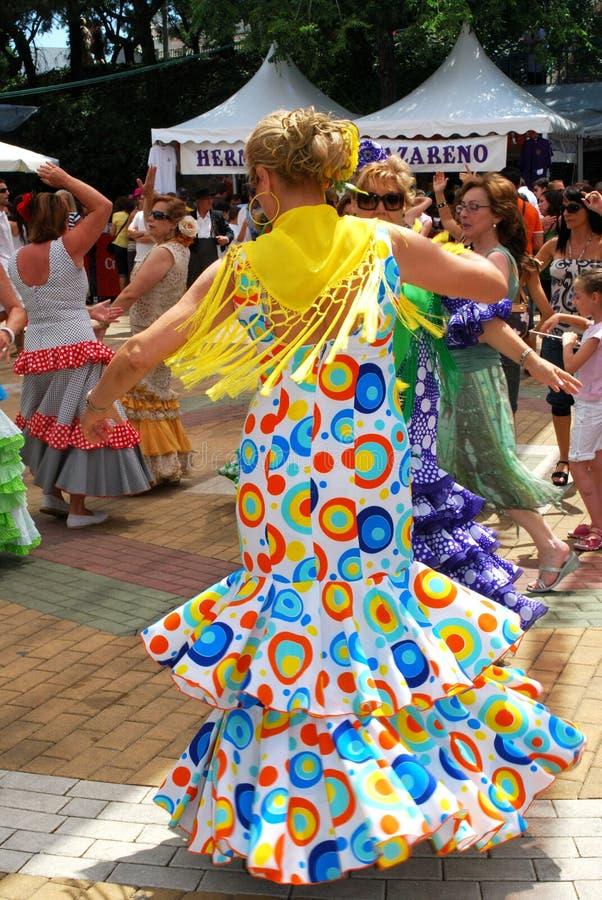 Spanska flamencodansare, Marbella royaltyfri fotografi