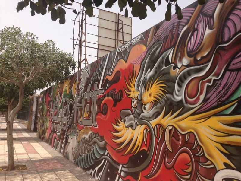 Spanska grafitti arkivbilder