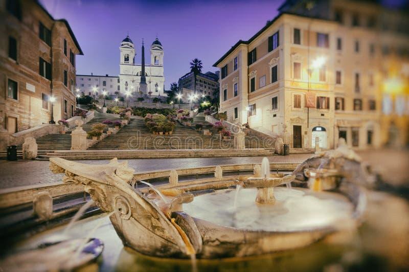 Spanska moment, Rome - Italien fotografering för bildbyråer