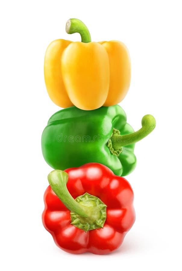 Spanska peppar i en bunt arkivbild