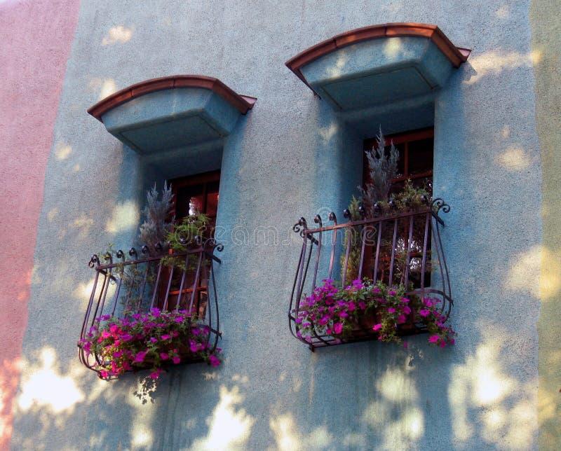 spanska stilfönster royaltyfri foto