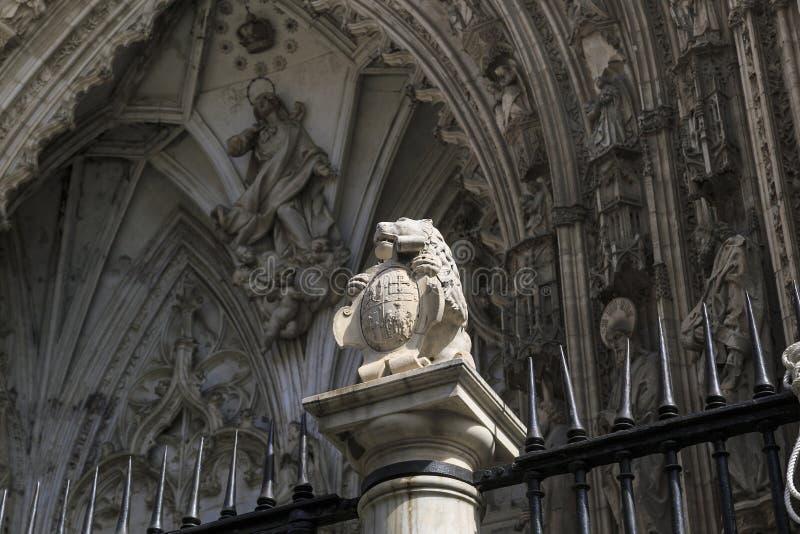 Spanskt gotiskt i Toledo arkivbilder
