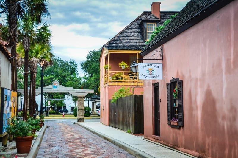 Spanskt museum för militärt sjukhus - St Augustine, Florida arkivfoton