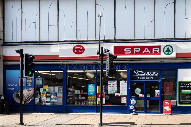 Spar Leamington Spa royalty-vrije stock afbeelding