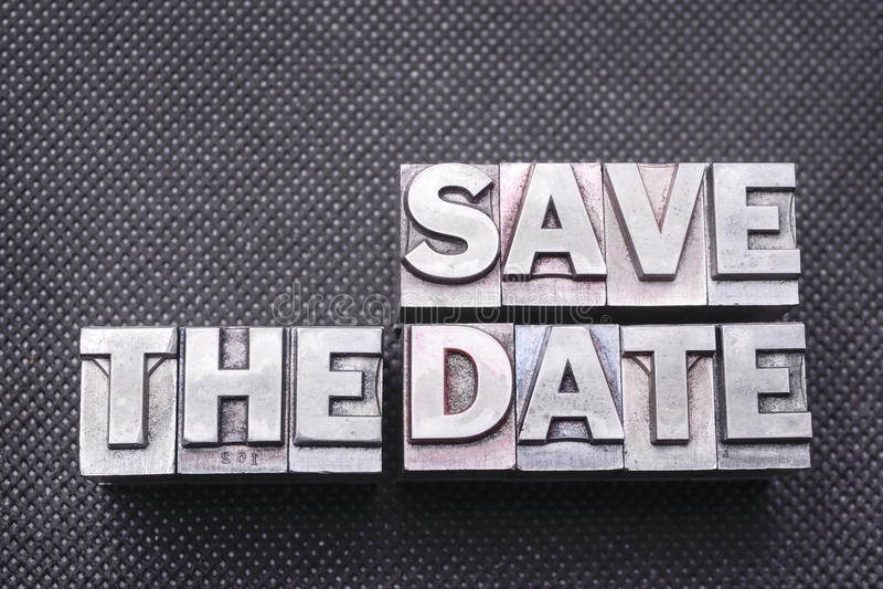 Spara datumbmen arkivbilder