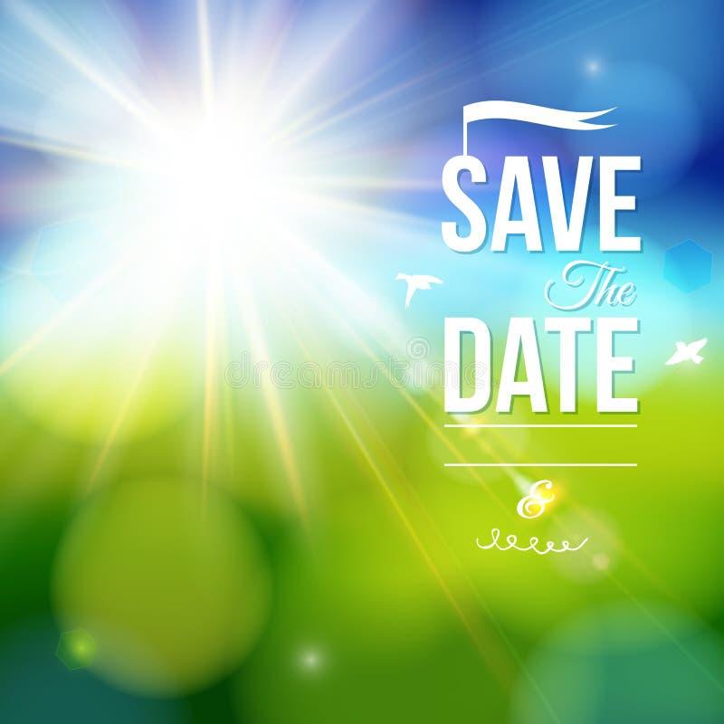 Spara datumet för personlig ferie. stock illustrationer