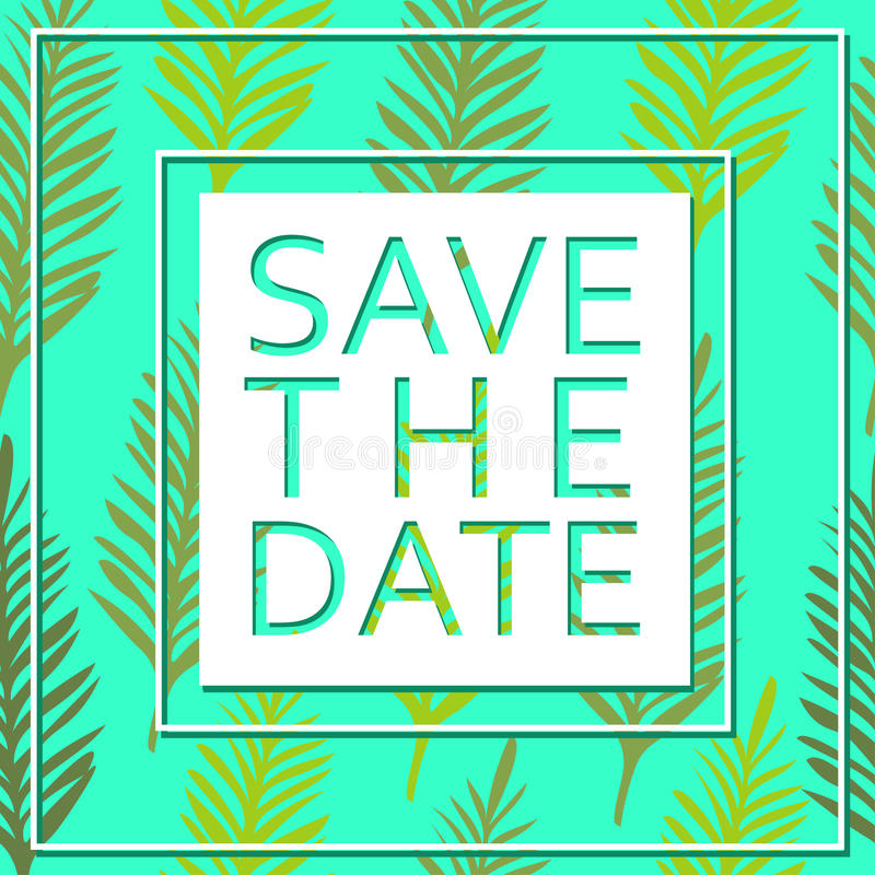 Spara datumet för personlig ferie bröllop för romantiskt symbol för inbjudan för bakgrundseleganshjärtor varmt blå vektor för sky stock illustrationer