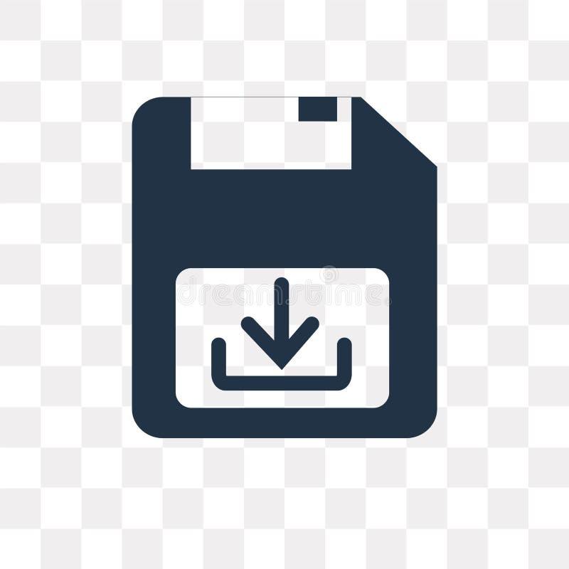 Spara den isolerade vektorsymbolen på genomskinlig bakgrund, räddningtrans. vektor illustrationer
