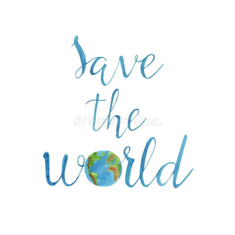 Spara den utdragna bokstäver för världshanden med planetjord arkivbilder