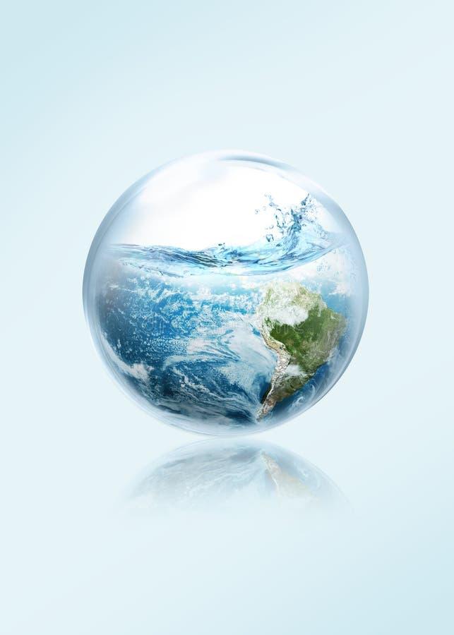 Spara jorden från ingen El-Ni royaltyfri illustrationer