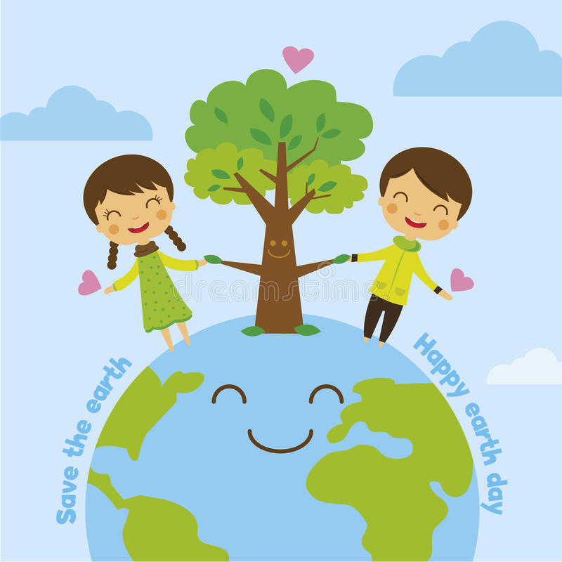 Spara jorden, räddningvärld stock illustrationer