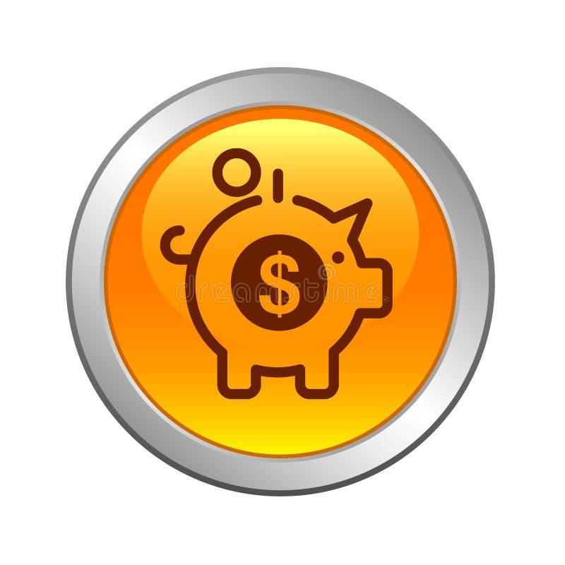 Spara knappen för pengarbegreppssymbolen vektor illustrationer