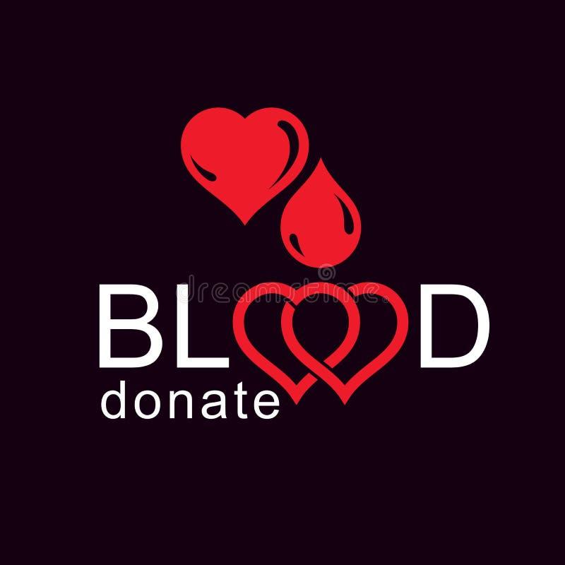 Spara liv och donera blod, begreppsmässig vektor för rehabilitering royaltyfri illustrationer