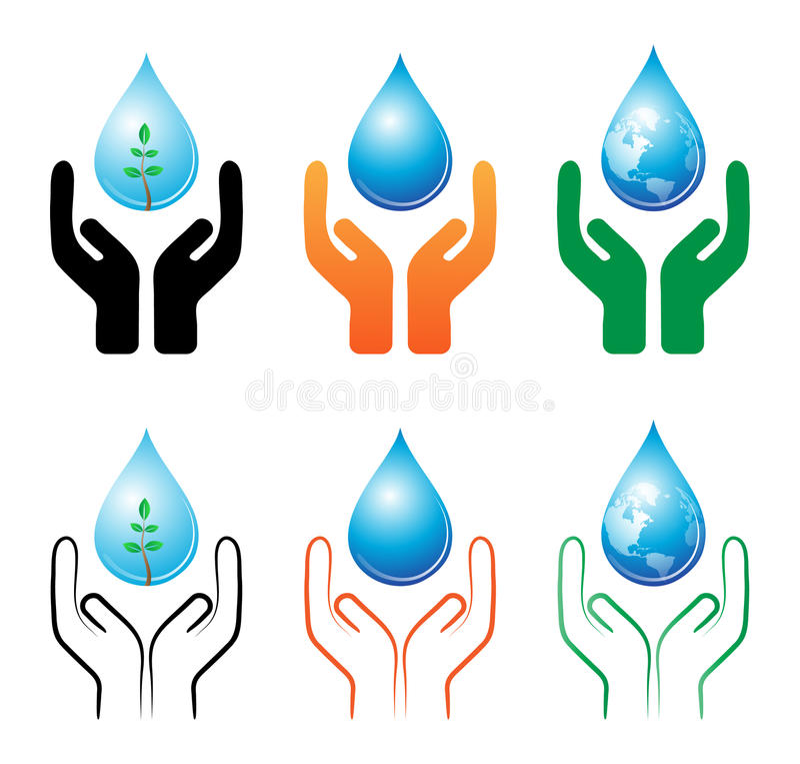 Spara raindropen vektor illustrationer