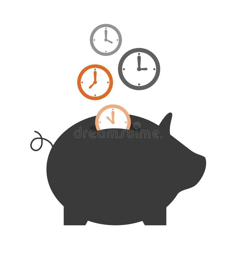 Spara tid stock illustrationer